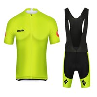 2019 Summer strava Short Sleeve Men Cycling Jersey Bib Short...