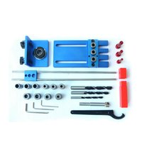 Guida per punte di fori Kit di punte per legno Set di strumenti per la lavorazione del legno con punte di perforazione Anello di arresto di profondità