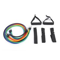 Hot 11Pcs / Set Espansori per tubi in lattice Esercizio Tubi Resistenza Resistenza Bands Pull Rope Pilates Attrezzature per il fitness Crossfit