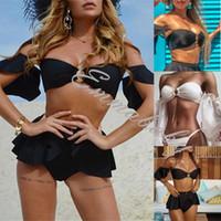 Femmes 2020 Nouveau Special Design Cape manches taille haute Ensemble bikini push-up Soutien-gorge rembourré maillot de bain Skinny Sling Maillot de Bain Maillots de bain