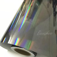Toptan PVC 1.52 * 20 m Hava Kabarcığı Ücretsiz Lazer Krom Holografik Gökkuşağı Renkli Film Wrap Araba Vinil Sticker