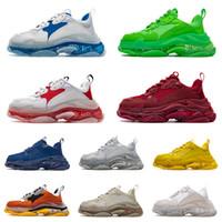 Balenciaga Triple s Shoes Fabrika Doğrudan Paris 17FW Lüks Platformu 2020 Üçlü s Tasarımcı Kristal alt Moda Erkek Kadın Düşük Eski Baba Rahat Sneakers Çizmeler ayakkabı