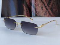 بيع الجملة نظارات شمسية 5634295 خفيفة ساحة فرملس الحيوان المعابد المعدنية الرجعية avant-garde تصميم uv400 ضوء النظارات الملونة