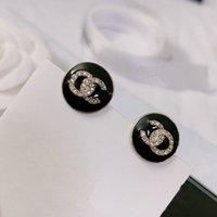 C2221 مجوهرات الجملة 925 الفضة إبرة أزياء الرجال والأقراط النسائية حلقة أنيق الأقراط المينا كليب