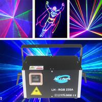 RJ45 / ILDA 디스코 파티 무대 조명 1500MW RGB 풀 컬러 애니메이션 + 네트워크 포트가있는 빔 레이저 표시등