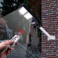 방수 야외 60 / 90W LED 벽 조명 원격 제어 태양 가로등 정원 Lampara 교외 집 (램프 극이 아님)