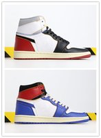 Designer Shoes 1S High OG Red Blue Stitching four colors NRG...