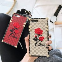 European luxury square embroidery 3D rose phone case for Sam...