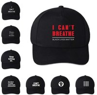 ABD STOK! Sıcak Can Şapka Siyah Hayatlar Matter Parade Açık Yaz Güneş kremi Snapback I Cant Nefes Caps Breathe değil Parti Şapkası 6091