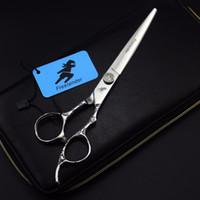 Düz Makas Salon Berber Kuaförlük Stil Saç Kesme Clipper Kesme 7inch 6CR Paslanmaz Çelik Freelander