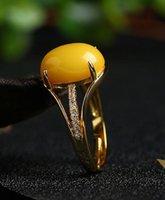 янтарного пчелиный воск кольцо открыт античный открытие ювелирных изделий регулируемое кольцо