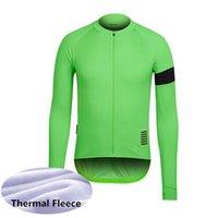 Rapha Team Hombre Invierno Termal Fleece Ciclismo Jersey Manga Larga Camisas de carreras MTB Bicicleta Tops Bicicleta Uniforme Outdoor Sportswear S21050735