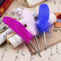 جميلة ريشة الأقلام قلم الكتابة توقيع ل اللوازم المدرسية القرطاسية البنود الرخيصة لطيف kawaii القلم القرطاسية البنود 14 الألوان