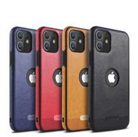 부드러운 TPU 비즈니스 가죽 케이스 쉘 전체 보호 케이스 아이폰 12 미니 11 프로 최대 XR XS 최대 8 7 6s 플러스