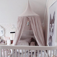 Kids Children Bed Canopy Bedding Round Dome Bedcover Mosquit...