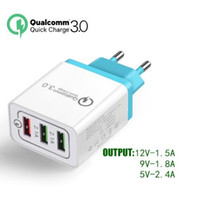 3 Ports 18W Portable Travel USB Wall Charger Quick Charge QC...
