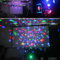Brelong DJ مصباح، 9 لون أدى ضوء المرحلة ضوء RGB الدورية كريستال ماجيك الكرة ضوء USB ديسكو 1 كمبيوتر