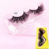 3D mink cils populaires longs cils de vison épais acryliques Volumn individuel dramatique 25mm long lashes