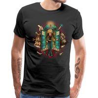 Kötü Kurt Tişörtü Funky Erkekler tişört TV Programı Tasarımcı Tees Kim Camiseta Pamuk O-boyun Erkek T Shirt Yaz Tardis Baskı Tops