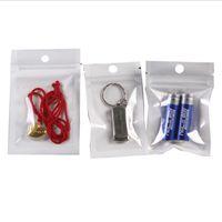 Limpar + Bloqueio de Zip de Plástico Branco Sacos OPP Sacos Ressalable Poli Zipper Pacotes Bolsas para Celular Capa Cabo USB Acessórios de Cabo Bateria PVC Embalagem de varejo PVC