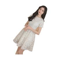 54a5c93ae 2019 manga corta blanca de encaje floral negro niñas vestido vestido de  bola vestido de niña adolescente 14 15 años grandes vestidos de niñas