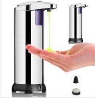 Sabão de aço inoxidável Sanitizer líquido Dispensador sem rosto de banheiro mão de banheiro lavar a garrafa de sabão Automático Distribuidor de sabão líquido 280ml RRA3167