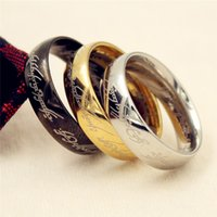2019 Midi Rvs Hobbit One Ring of Power Gold The Lord of the Rings Lovers Women Men Mode-sieraden