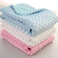 Manta de guisantes de bebé 100 * 70 cm Conjunto de ropa de cama Sofá Manta Kids Mantas suaves de espuma de tiro Tirar alfombras Saco de dormir DA334