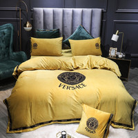 Goddess Designers Yellow Bedding Sets New Style Embroidery F...