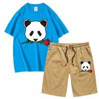 Riot Society мужские наборы panda rose топы и шорты спортивная одежда Футболки с коротким рукавом набор 2 шт спортивная футболка повседневная homme top tee