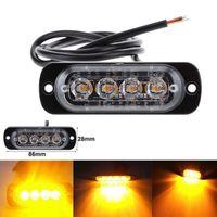 20 stücke 12-24V LKW-Auto 4 LED-Flash 12W-Strobe-Not-Warnlicht blinkende Lichter