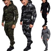 남성 운동복 가을 접합 지퍼 4 색 아시아 크기 M-2XL와 운동복 바지 세트 스포츠 정장 운동복을 인쇄