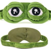 Drôle de bande dessinée de sommeil doux Masque Mignon Grenouille Oeil d'animal Couverture Super Soft Eye Blindfold Sleeping Marque Pour Adultes Enfants