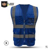 Fabricants en gros réfléchissant Gilet pour hommes Trafic Construction Sécurité Net Buma Jia Site Road Site Personnel Vêtements