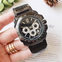 Relógios mens marca suíço OCTO pulseira de aço inoxidável movimento de quartzo todo o trabalho de discagem cronógrafo relógios designer de alta qualidade relógios para homens