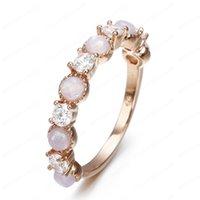 Frauen Mode Sterling Silber Vintage Opal Ring Eheringe Ringe Engagement Hochzeits-Party Schmuck