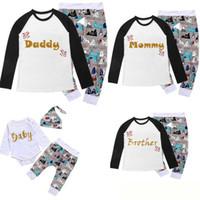 크리스마스 가족 매칭 잠옷 의상 세트 학부모 어린이 아기 잠옷 잠옷