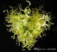Stile Verde soffiato di Murano Lampadari di vetro moderna di arte della decorazione a mano soffiato lampadari in vetro di Art Lampadari di disegno del cuore
