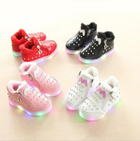NEW Fashion Childrens Luminous Shoe Stars Print Girls Flat S...