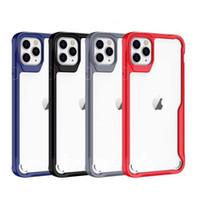 아이폰 12 투명 견고한 하이브리드 아크릴 TPU 케이스 커버 아이폰 (12) 프로 맥스 (11) XS MAX XR 7 8 플러스 삼성 S20 플러스 S20 주 20