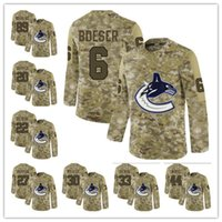 d6ae04fba New Arrival. 2019 Camo 20 Brandon Sutter 31 Anders Nilsson 77 Nikolay  Goldobin 30 Ryan Miller Vancouver Canucks mens stitched hockey Jersey