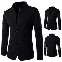 Мужские куртки мужская одежда черное пальто мужчины весенняя зимняя куртка для певицы танцора спектакль выпускной платья по выпускным вечеринку ночной клуб Outdoors Plus S