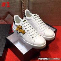 New MEN' S SHOES LEATHER TRAINERS SNEAKERS NEW PORTOFINO...