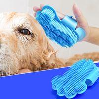 حمام دش الحيوانات الأليفة مدلك فرشاة لينة قابلة للتعديل الكلب حمام قفاز مريحة المس أدوات النظافة 3 5mc UU