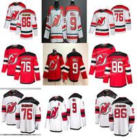 New Jersey Devils Jersey 76 P. K. Subban 86 Jack Hughes 9 Taylor Hall Kırmızı Hokey Formaları