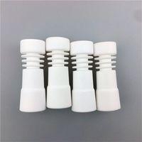 Популярные Портативные Керамические Гвозди 14мм с женскими безкупольными стеклянными бонгами спиральные керамические гвозди для курения