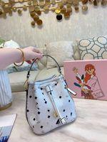 가방 패션 여성 패키지 인쇄 소형 졸라 매는 끈 버킷 가방 여성 조커 한 어깨 비스듬히 핸드백 핸드백 다기능