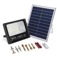 Haute Qualité 25W 40W 100W 120W Panneau solaire Powered Télécommande LED Flood éclairage extérieur Projecteur lumière jardin extérieur Rue