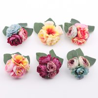Hair accessory fabric peony big flower corsage brooch child ...