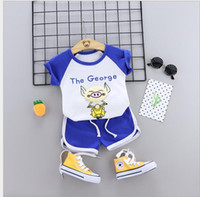 T0MY Little Kids Sets 1T- 4T Childrens O- neck T- shirt Short P...